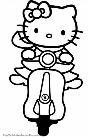 Kitty Coloring Pages Free to Print   6721