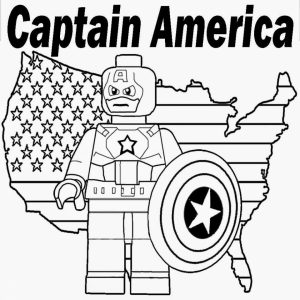 Lego Captain America Coloring Pages   80673