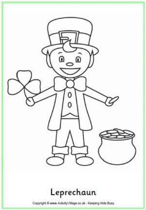 Leprechaun Coloring Pages Free Printable   fyo105