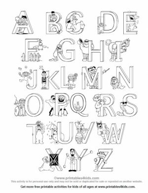 Letter Coloring Pages for Toddlers   xM7zV