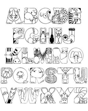Letter Coloring Pages
