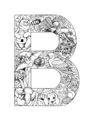 Letter Coloring Pages to Print Online   K0X5s