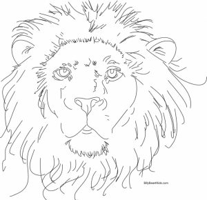 Lion Coloring Pages to Print Online   36471