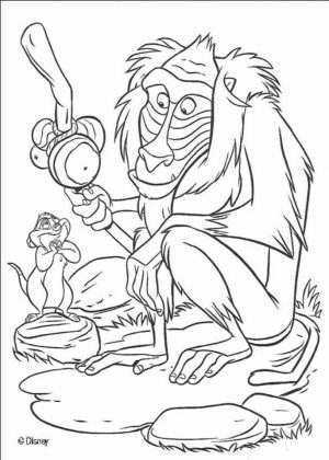 lion king coloring pages scarecrow - photo#23