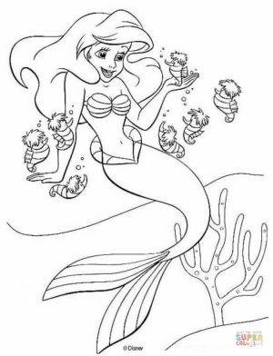 Little Mermaid Coloring Pages Disney Printable   59301