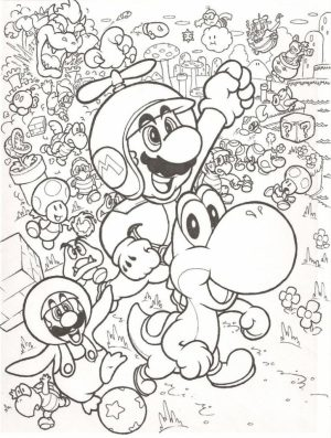 Mario Bros coloring pages free   qab5m