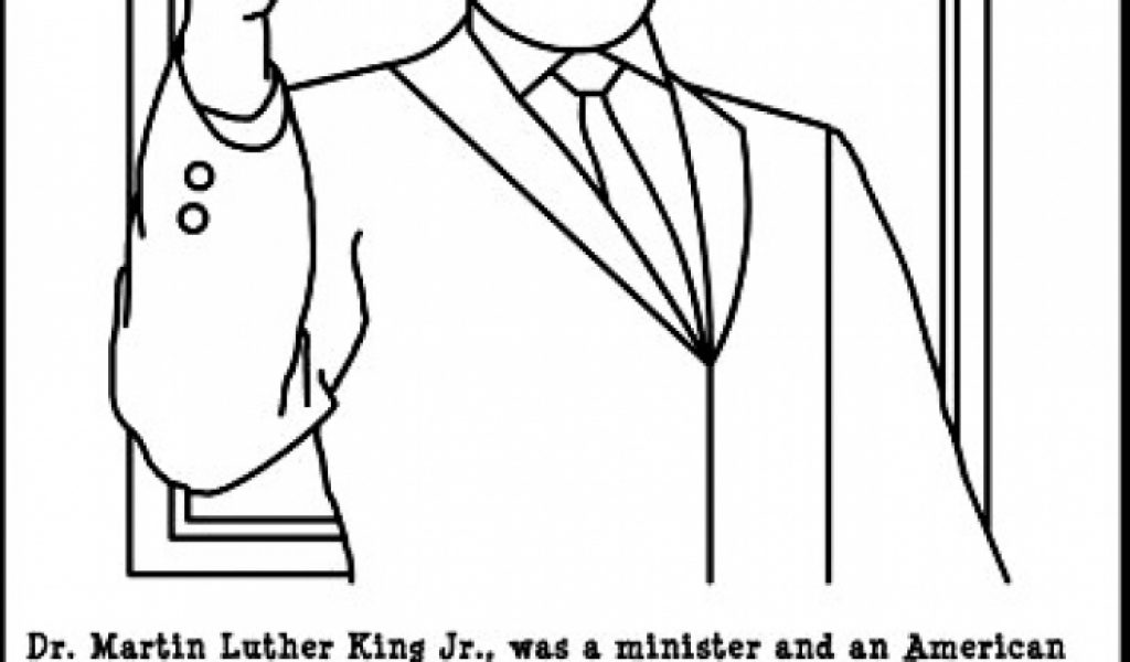 martin luther king jr coloring pages free to print j6hdb - Martin Luther King Jr Coloring Pages