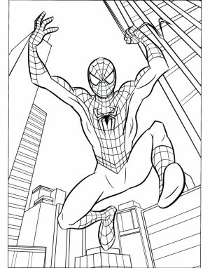 Marvel Coloring Pages Spiderman   05619