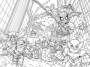 Marvel Coloring Pages Superhero Squad   7ahem