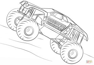 maximum destruction monster truck coloring page – 38721