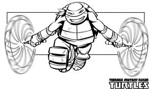 michaelangelo from teenage mutant ninja turtles coloring pages – 12721