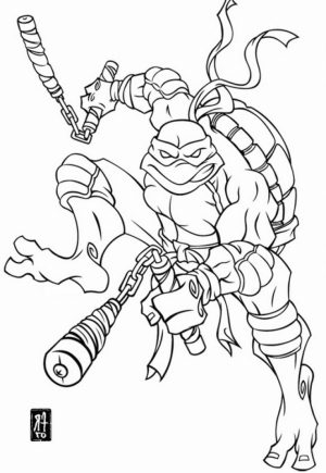 michelangelo teenage mutant ninja turtles coloring pages   25143