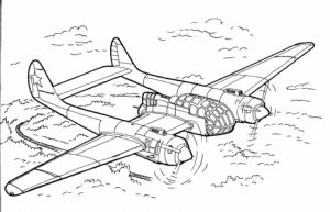 Military Airplane Army Coloring Pages Online   8953fgh
