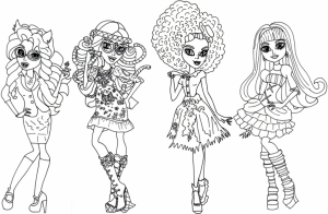 Monster High Coloring Pages Free Printable   679165