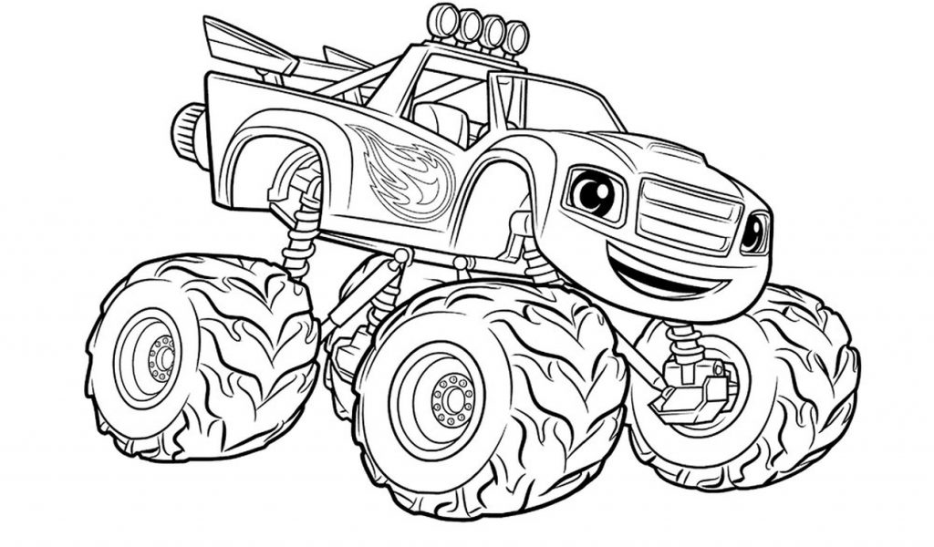 get this monster truck coloring page free printable for kids - 12791 ! - Monster Truck Coloring Pages Free
