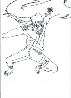 Naruto Coloring Book Pages for Kids   22860