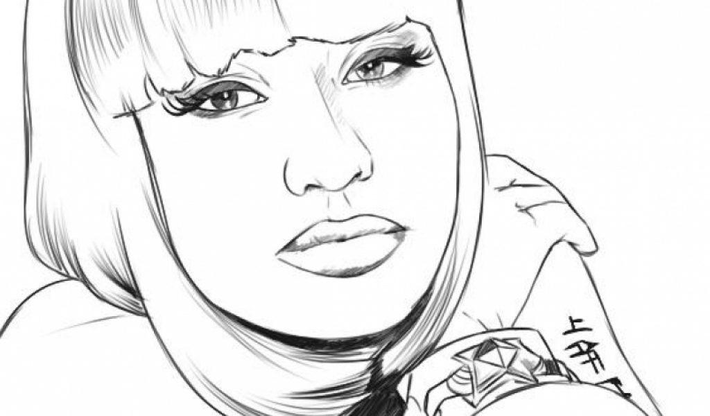 Nicki Minaj Free Coloring Pages