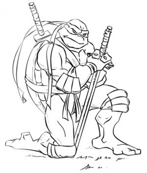 Ninja Turtle Coloring Page Free Printable   16479