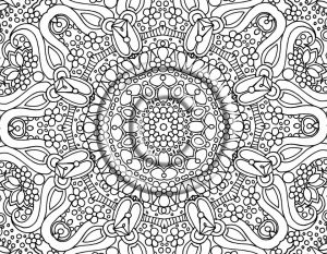 Online Abstract Coloring Pages for Grown Ups   25143