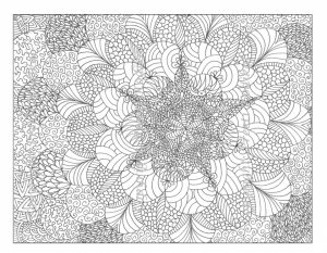 Online Abstract Coloring Pages for Grown Ups   42314