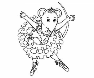 Online Angelina Ballerina Coloring Pages   703915
