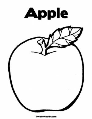 Online Apple Coloring Pages   6q195