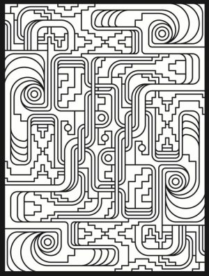 Online Art Deco Patterns Coloring Pages for Adults   467867