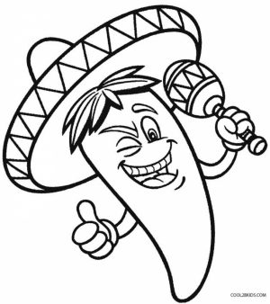 Online Cinco de Mayo Coloring Pages for Kids   57070