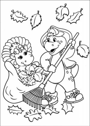 Online Coloring Pages of Barney and Friends for Kids   36719