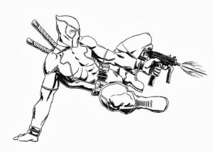 Online Deadpool Coloring Pages   289279
