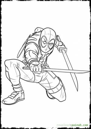 Online Deadpool Coloring Pages   476857