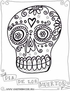 Online Dia De Los Muertos Coloring Pages   6q190