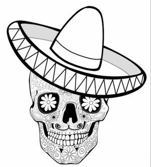 Online Dia De Los Muertos Coloring Pages   gkhlz