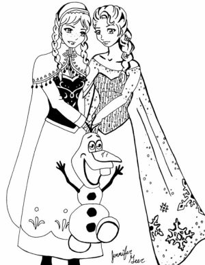 Online Disney Coloring Pages of Frozen Princess Anna   93719