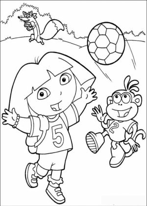 Online Dora The Explorer Coloring Pages   f8shy