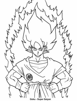 Online Dragon Ball Z Coloring Pages   42198