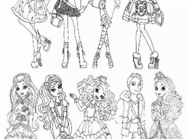 Get This Online Ever After High Coloring Pages 28344