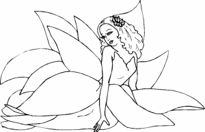 Online Fairy Coloring Pages   79601
