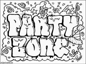 Online Graffiti Coloring Pages   83723