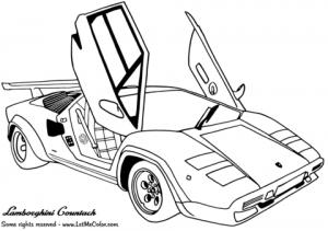 Online Lamborghini Coloring Pages   61800