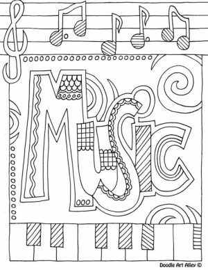 Online Music Coloring Pages for Kids   57070