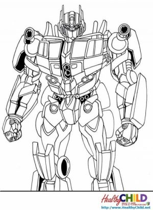 Online Optimus Prime Coloring Page to Print   swsyq
