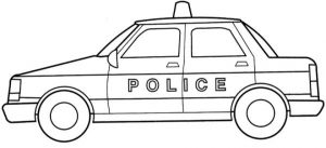 Online Police Car Coloring Pages   28344