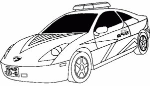 Online Police Car Coloring Pages   38730