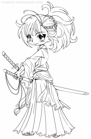 Online Printable Chibi Coloring Pages   4G45S