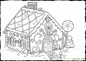 Online Printable Gingerbread House Coloring Pages   4z5CB