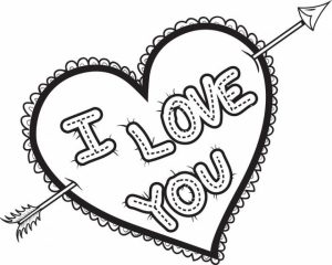 Online Printable I Love You Coloring Pages   rczoz