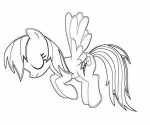 Online Printable Rainbow Dash Coloring Pages   49296