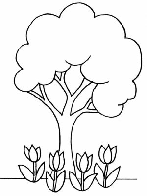 Online Printable Tree Coloring Pages   4G45S