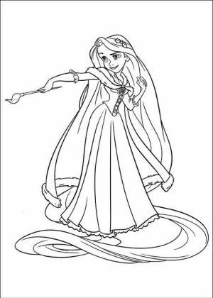Online Rapunzel Coloring Pages   LGNK2